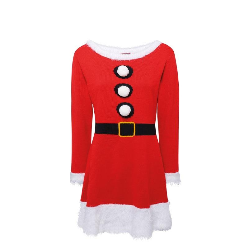 1b78cca5c823f5 Party Gebreid kerst jurkje voor dames - Party schoenenwinkel